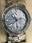 Ulysse Nardin Maxi Marine Diver Silver Dial 263-33-3/91 Wrist Watch Complete Set