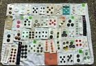 Group Lot of Button Cards Buttons on Original Cards mostly plastic some metal