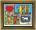 Keith Haring Plate Signed  Hand Numbered Limited Edition Litho Print unframed