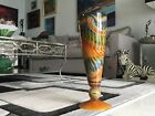 Monumental 17 1 2 Clinton Smith Art Glass Vase Signed and Dtd 2007