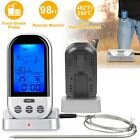 Wireless Remote Digital Kitchen Thermometer For BBQ Grill Meat Oven Cooking LCD