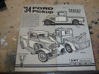 AMT 1934 Ford Pick Up model instruction sheet