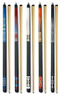 SET OF 5 POOL CUES New Two Piece Billiard House Pool Cue Stick GJ1 5 FREE SHIP