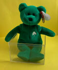 Erin The Bear Ty Beanie Original Baby St. Patrick's Day 1997 With Errors Retired