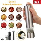 Electric Grinder Salt and Pepper Shaker Automatic Grinder Mill Stainless Steel