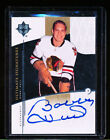 2009-10 ULTIMATE COLLECTION SIGNATURES BOBBY HULL AUTO #US-BH AUTOGRAPH ON CARD