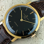 Ulysse Nardin VINTAGE 18k Gold Plated MEN'S SLIM WATCH Ca.60's IMMACULATE!