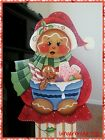 Hand Painted Wooden Standing Gingerbread Christmas Candies Porch Decor Red