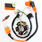 Moped Magneto Stator Racing Ignition Coil CDI Spark Plugs GY6 49cc 50cc Scooter