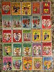 1959 TOPPS FUNNY VALENTINE 68 CARDS INCOMPLETE SET W DUPES FREE SHIPPING