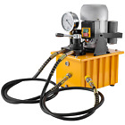 Hydraulic Pump 110V 750W Double Acting Manual Valve 2 Stage 8L Oil Capacity