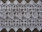 9 1 2 YDS LOVELY HEAVY WHITE FLORAL RAYON VENISE LACE