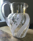Bohemia Glass Vase Floral Accents  Amber Colored Glass