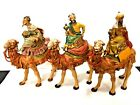 Fontanini Italy Nativity 65 Collection 3 Piece Kings Magi Wise Men Camels 1992