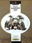 NEW Unopened Members Mark 2005 16 piece Nativity Set Fabric Ceramic NF0383 Large