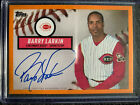 2019 Topps Brooklyn Collection Barry Larkin Orange On Card Auto #ed 9 25 🔥Reds