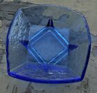 NEW Fire and Light Cobalt California Recycled Art Glass Jewelry Cache Dish