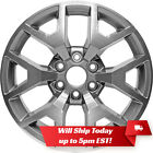 New Set of 4 20 Machined Grey Alloy Wheels Rims for 2014 2018 GMC Sierra 1500