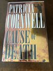 Cause Of Death by Patricia Cornwell HC 1st Ed Signed