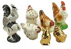 4 Sets Vintage Chickens Birds Salt and Pepper Shakers Japan Ceramic Aviary Set