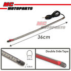 Smoke 36cm Flexible LED Strip Lights For Signal Tail Brake Fit BMW Honda Yamaha