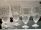 Shannon Crystal by Godinger Ice Tea Water Glasses Goblets Symphony Set 4 New