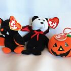 Lot Of 3 Small Pre-owned Halloween Ty Beanie Babies