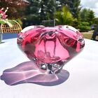5LB Sommerso MURANO Pink Cranberry Art Glass Bowl Ashtray Mid Century Barbini