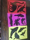 Set of 3Plastic Stencils Templates For Kids Arts Crafts Drawing Animals