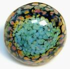 Vintage Collectible Button Stunning Art Glass POTTERY Resembling Stone NICE G1