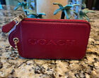 Coach Tag New York Small Burgundy Wallet Very Cute