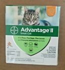 GENUINE BAYER ADVANTAGE II FLEA CONTROL FOR CATS 5 TO 9 LBS NEW 2 PACK