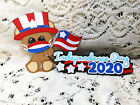 July 4th Title and Uncle Sam Bear paper piecing Premade Scrapbook Pages