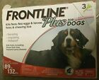 3 Doses Frontline Plus for XL Dogs 89 132 lbs Flea  Tick Control Treatment
