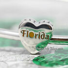 Authentic Pandora I Love Florida Sterling Silver Charm