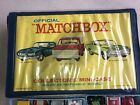 1969 OFFICIAL MATCHBOX COLLECTORS mini car CASE WITH 22 vehicles