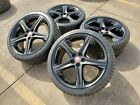20 Jaguar XK XJ XJL OEM wheels rims 59846 59861 black 2014 2015 2019 2020 XE XF