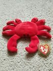 Digger the Crab TY Beanie Baby DOB 8-23-95 rare Nurnberg tag