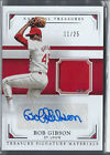 BOB GIBSON 2017 NATIONAL TREASURES JERSEY PATCH AUTO AUTOGRAPH # 25 SP