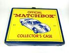 Vintage 1966 Official Matchbox Collectors Case with 12 cars  4 motorcycle
