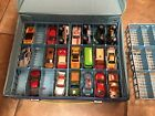Vintage Matchbox Case And 20 Mixed Cars