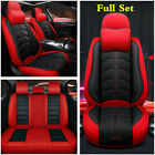 Deluxe Edition Black Red Leather 5 Seat Car Seat Cover For Interior Accessories