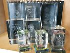 9 Lot 3D Laser Etched Crystal Glass Paperweight Souvenir Florida Elvis Unicorn