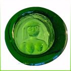 BODA Sweden KOSTA BODA Erik Hoglund Green Ashtray Paperweight COLLECTABLE