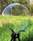USA MADE Sparkling Crystal Hand Blown Glass 10 inch Gazing Ball NEW OLD STOCK