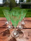 Unique ABP Dorflinger Hawkes Crystal Apple Green White Wine Glass 5 Available