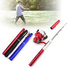 Fishing Rod Telescopic Mini Portable Pocket Fish Aluminum Alloy Pen Pole Reel