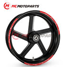 17'' Rim LIGHTNING Wheel Stickers For Kawasaki Z900RS KLE650 Concours 14 Z650