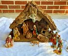 Fontanini Heirloom Lighted Stable Nativity Set 5 1998 54514 Italy 12 pc