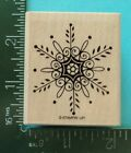 INTRICATE SNOWFLAKE Rubber Stamp by STAMPIN UP Winter Christmas